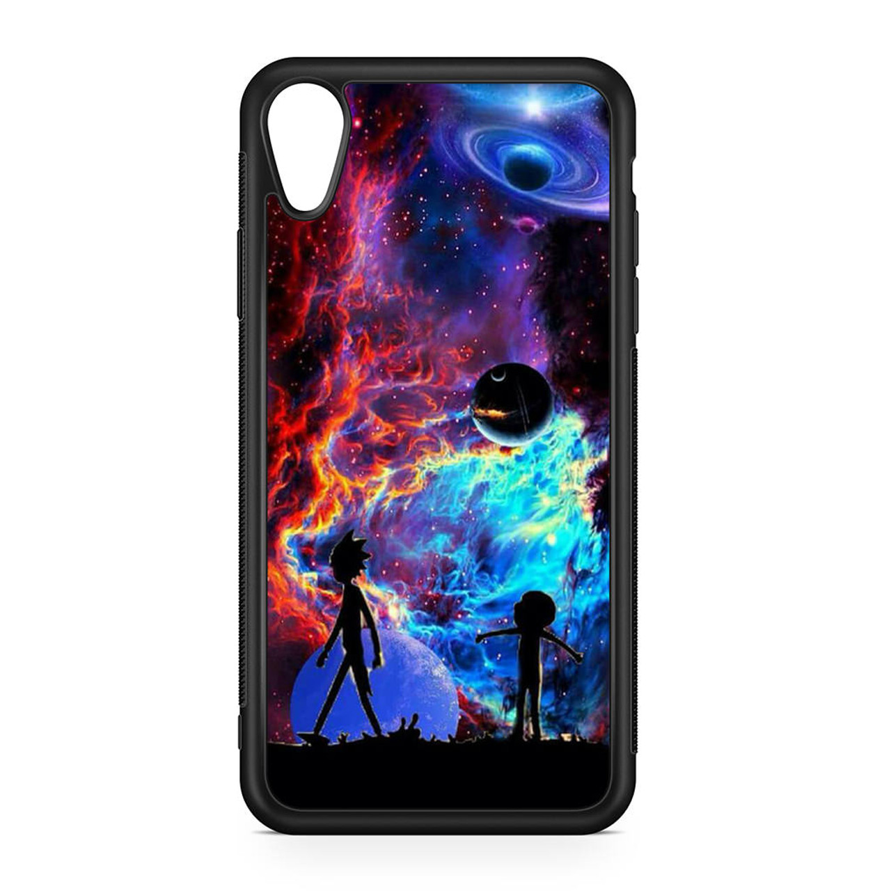 detailed look 1c165 8b1cb Rick and Morty Flat Galaxy iPhone XR Case