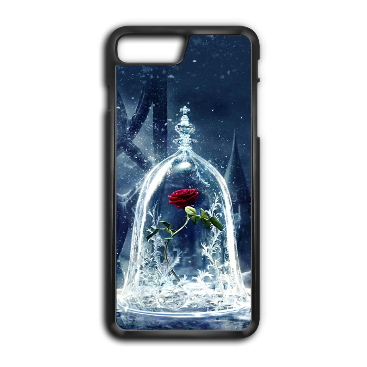 56e4ba28bf6 Beauty and The Beast Rose iPhone 8 Plus Case - CASESHUNTER