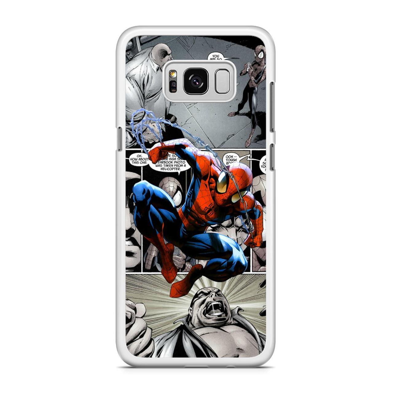 Spiderman Comics Wallpaper Samsung Galaxy S8 Plus Case Caseshunter