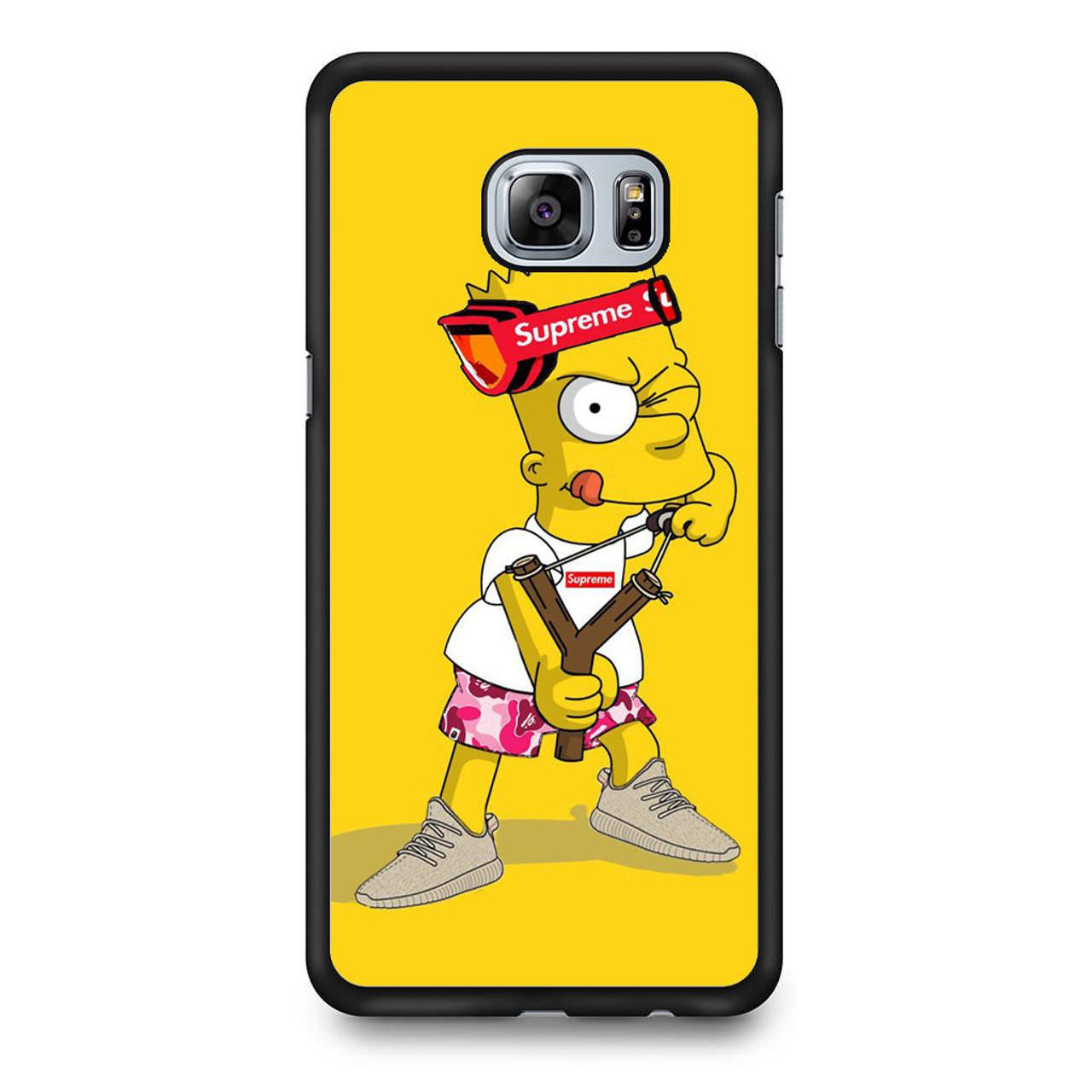 on sale 125f4 56aed Explore Bart Simpson Supreme Samsung Galaxy S6 Edge Plus Case
