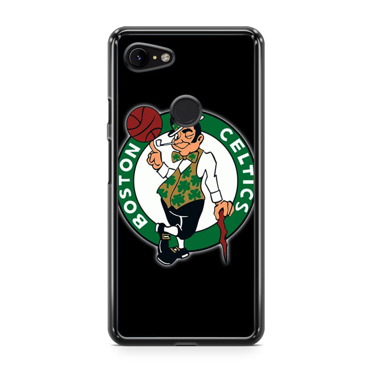 new products bc0e5 815a7 Boston Celtics Logo Nba Google Pixel 3 XL Case