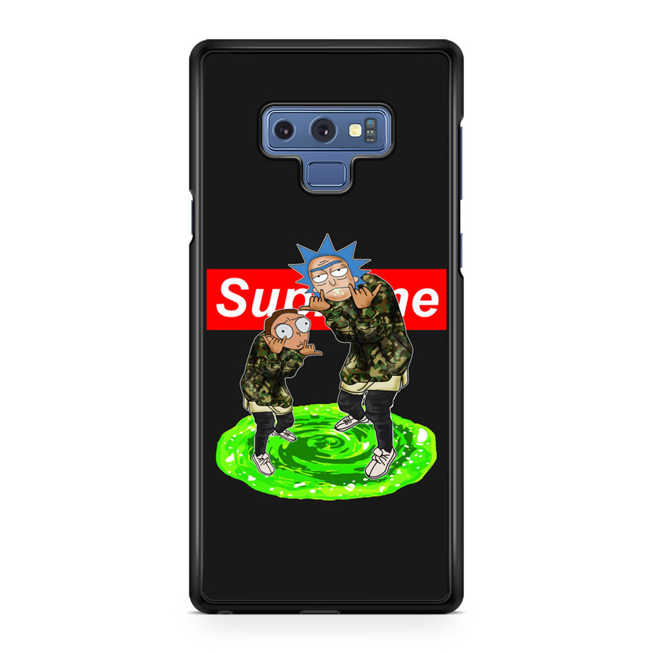 official photos 41827 8f2d7 Rick and Morty Supreme Samsung Galaxy Note 9 Case