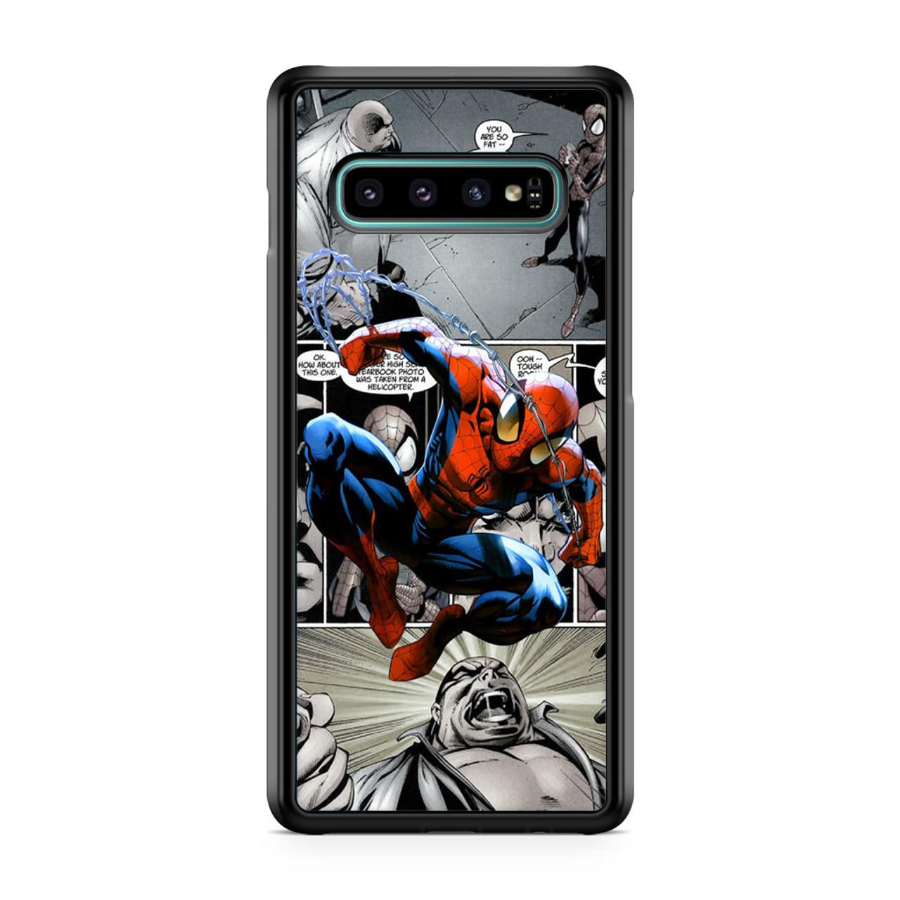 Spiderman Comics Wallpaper Samsung Galaxy S10 Case Caseshunter