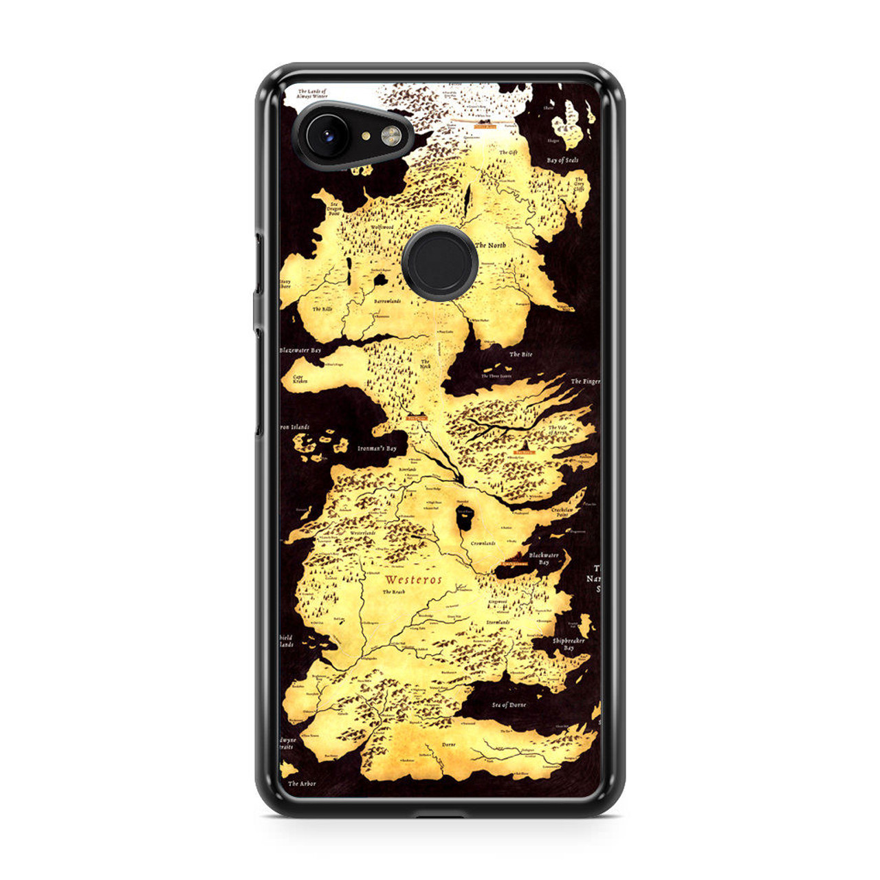 Game Of Thrones Westeros Map Google Pixel 3 Case Caseshunter