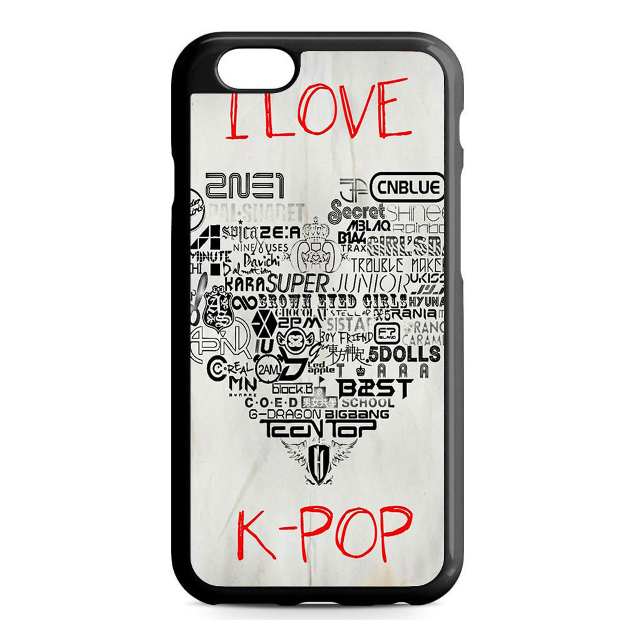 the best attitude 139bb ef5d4 I lOve Kpop iPhone 6/6S Case
