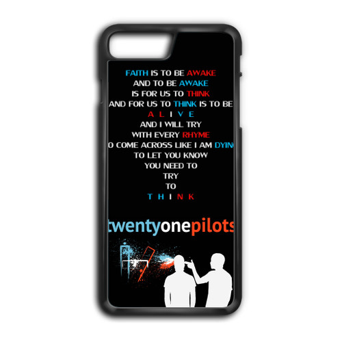 Twenty One Pilots Lyrics Top Iphone 8 Plus Case Caseshunter