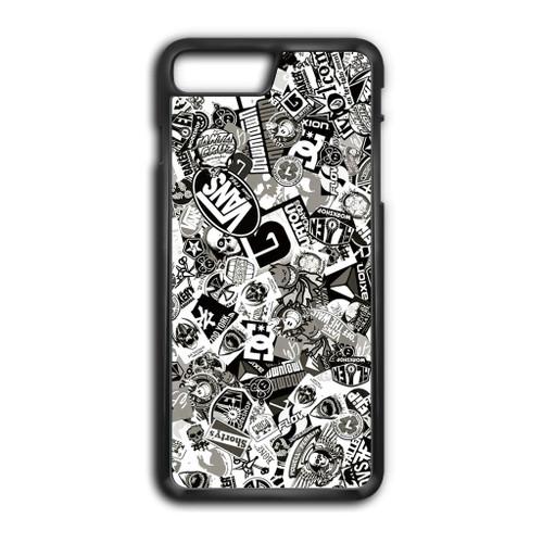 Darmowa dostawa nowy przyjeżdża najlepiej tanio Stickerbomb Skate Dub Vans BW iPhone 8 Plus Case
