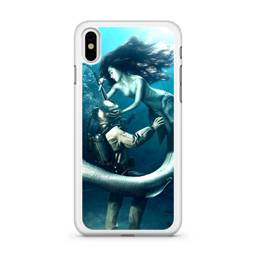 best authentic 4420c 30120 Diver and The Mermaid iPhone X Case