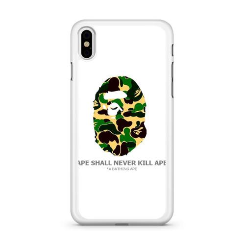 Bape Ape Camo iPhone X Case