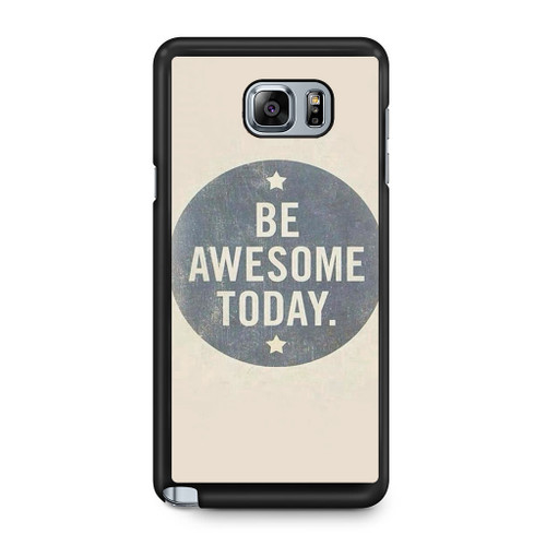 watch 8c832 c7b46 Be Awesome Today Quotes Pattern Samsung Galaxy Note 8 Case - CASESHUNTER