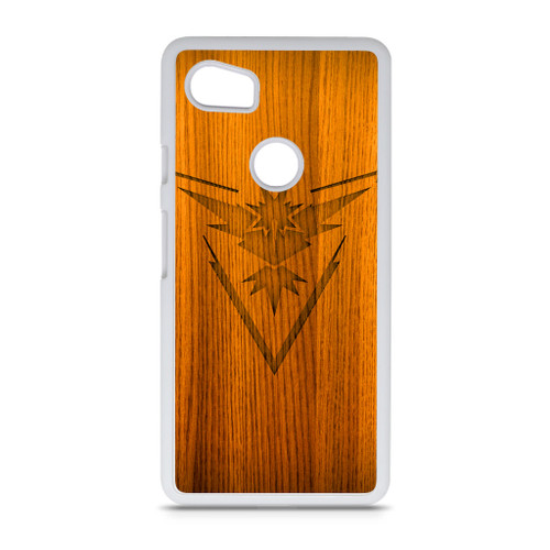 buy popular 9ac83 7b807 Pokemon Go Instinct Logo on Wood Google Pixel 2 XL Case