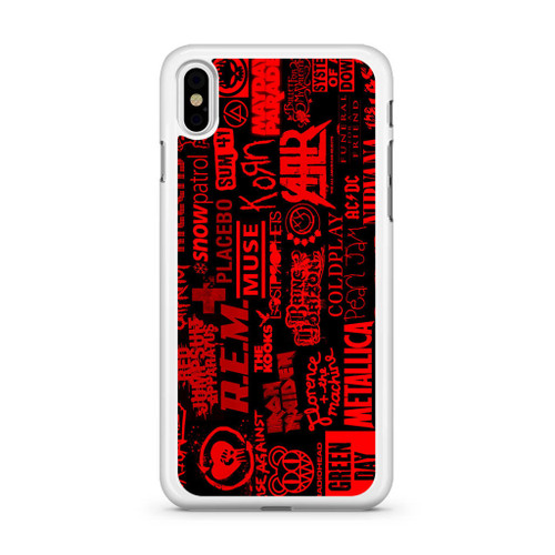 Top Rock Band Collage Iphone Xs Max Case