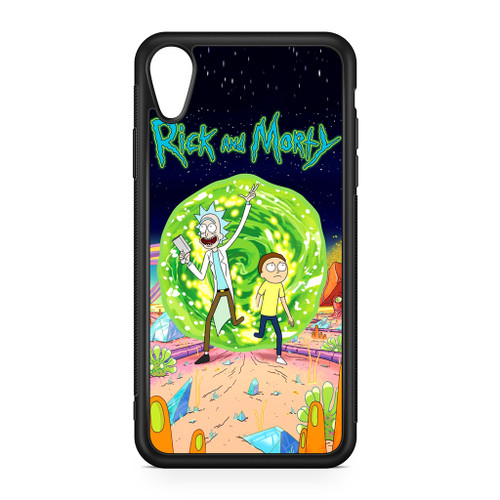 new arrival 9a458 ca532 Rick and Morty Poster iPhone XR Case