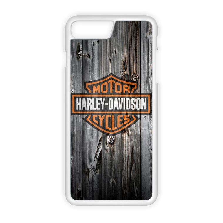 Harley Davidson Wood Art iPhone 8 Plus Case