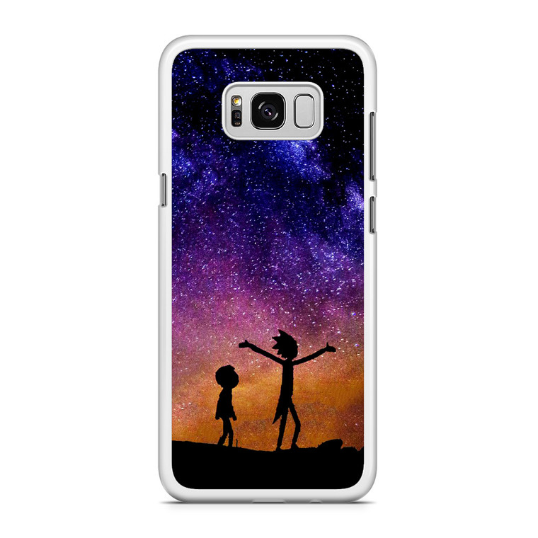 Rick and Morty Space Nebula Samsung Galaxy S8 Case