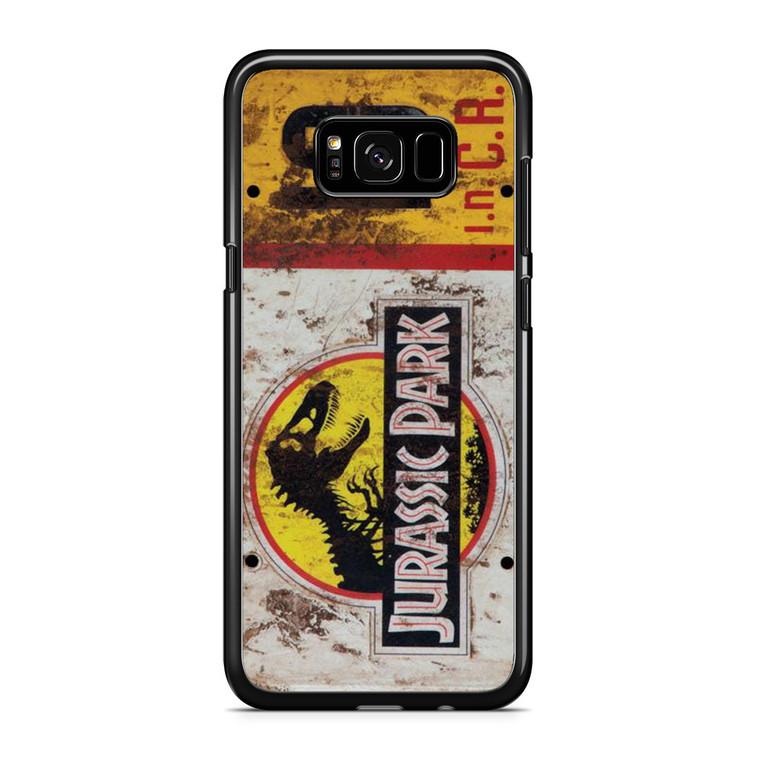 Jurassic Park Jeep License Number 10 Samsung Galaxy S8 Plus Case