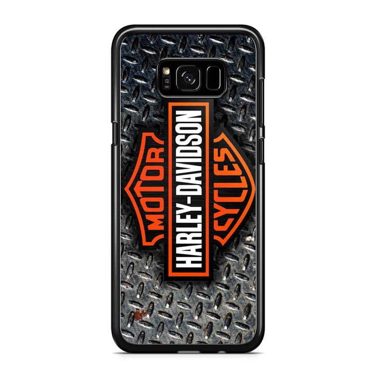 Harley Davidson Logo Diamond Plate Samsung Galaxy S8 Plus Case