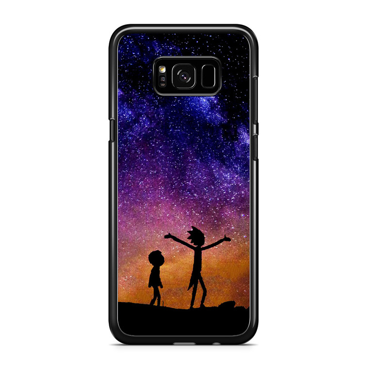 Rick and Morty Space Nebula Samsung Galaxy S8 Plus Case