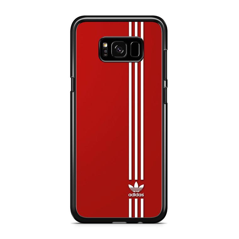 Brand Adidas Red White Sport Samsung Galaxy S8 Plus Case