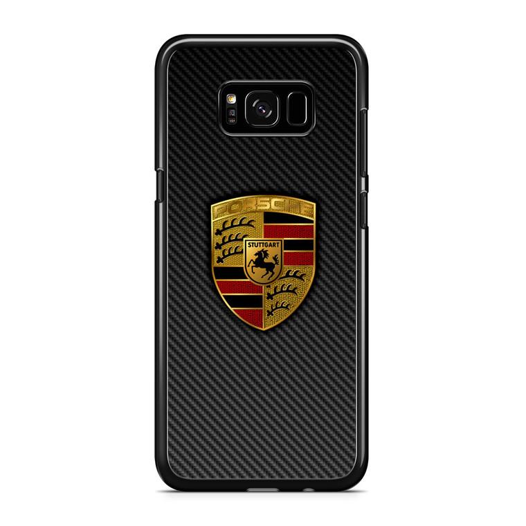 Carbon Porsche Logo Samsung Galaxy S8 Plus Case