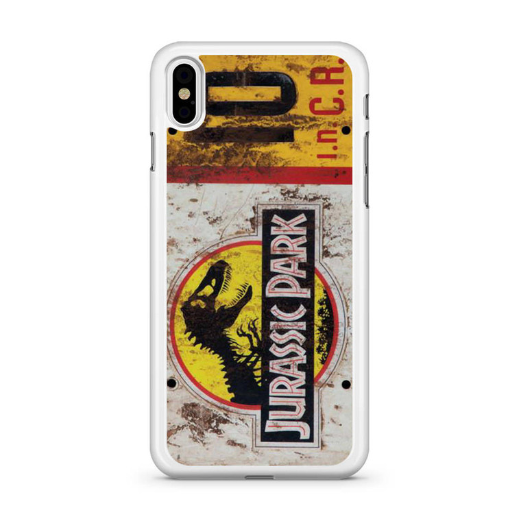 Jurassic Park Jeep License Number 10 iPhone X Case