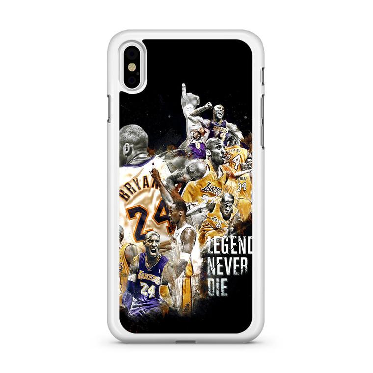 Kobe Bryant Legends Never Die iPhone X Case