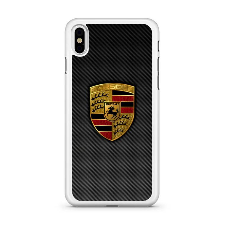 Carbon Porsche Logo iPhone X Case
