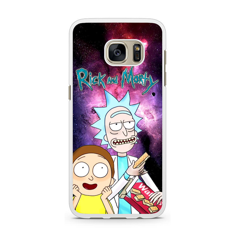Rick and Morty Nebula Space Samsung Galaxy S7 Case