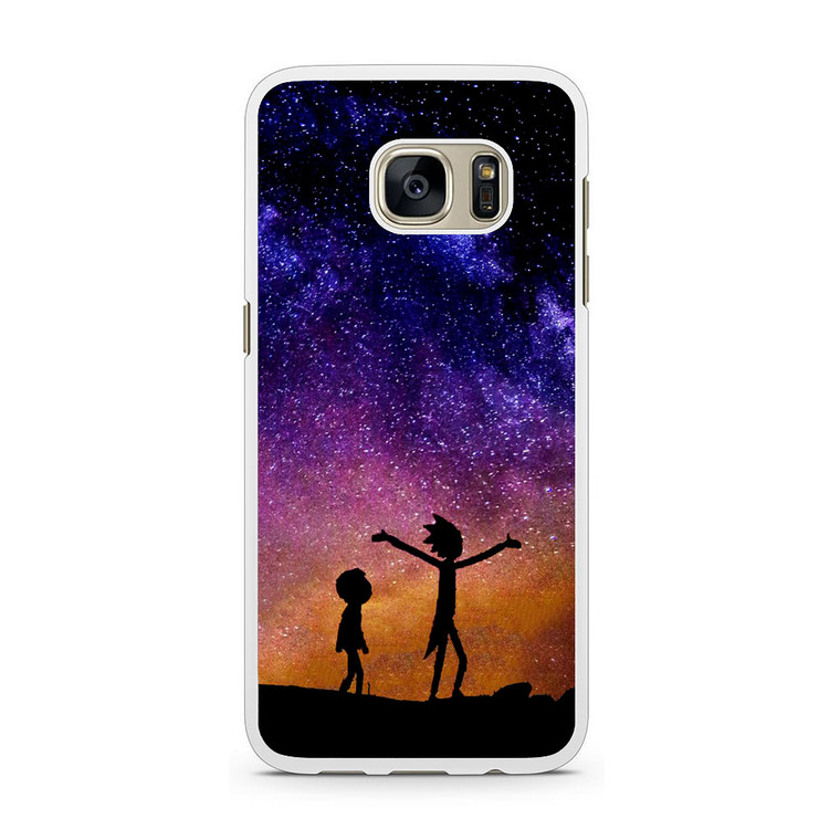 Rick and Morty Space Nebula Samsung Galaxy S7 Case