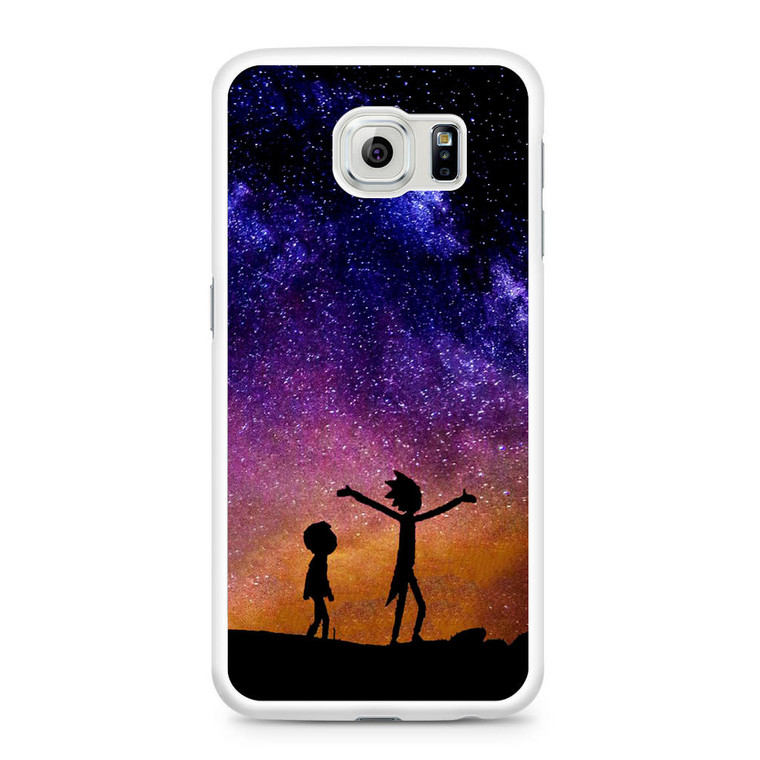 Rick and Morty Space Nebula Samsung Galaxy S6 Case