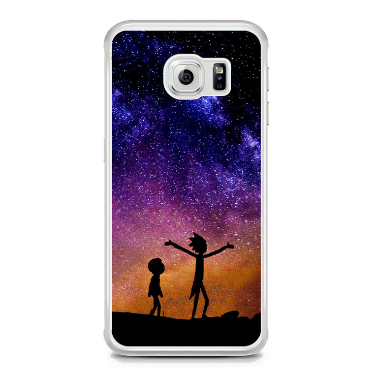 Rick and Morty Space Nebula Samsung Galaxy S6 Edge Case