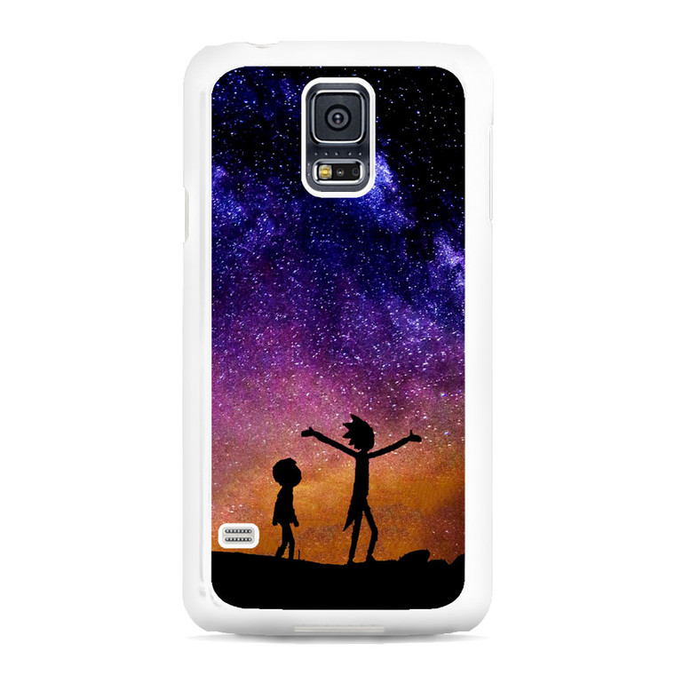 Rick and Morty Space Nebula Samsung Galaxy S5 Case