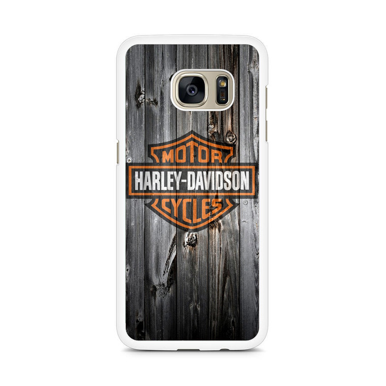 Harley Davidson Wood Art Samsung Galaxy S7 Edge Case
