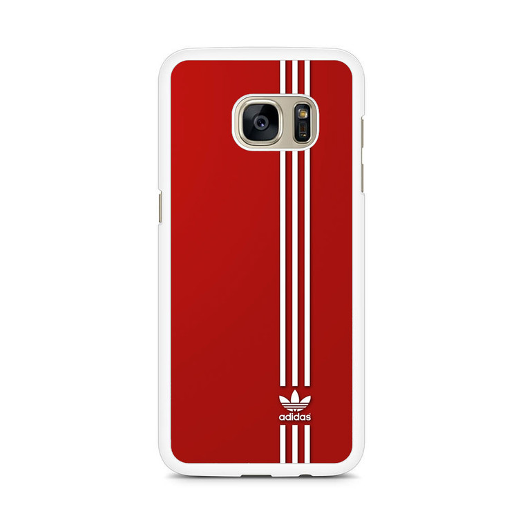 Brand Adidas Red White Sport Samsung Galaxy S7 Edge Case
