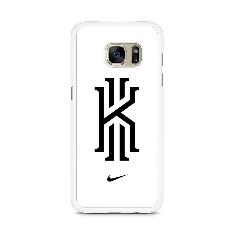 Kyrie Irving Nike Logo White1 Samsung Galaxy S7 Edge Case