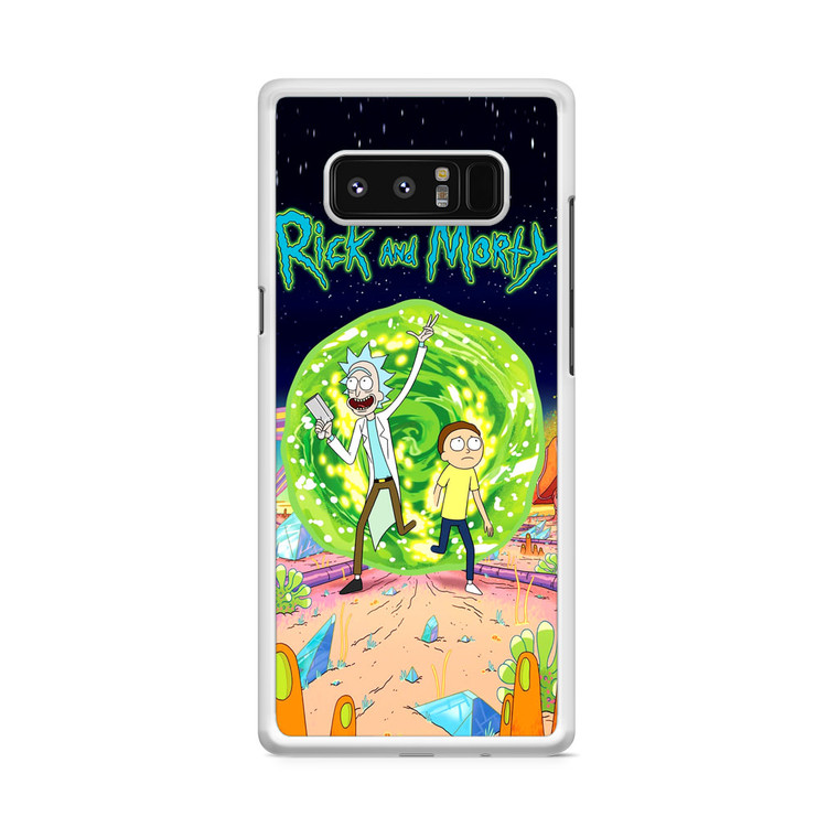 Rick and Morty Poster Samsung Galaxy Note 8 Case