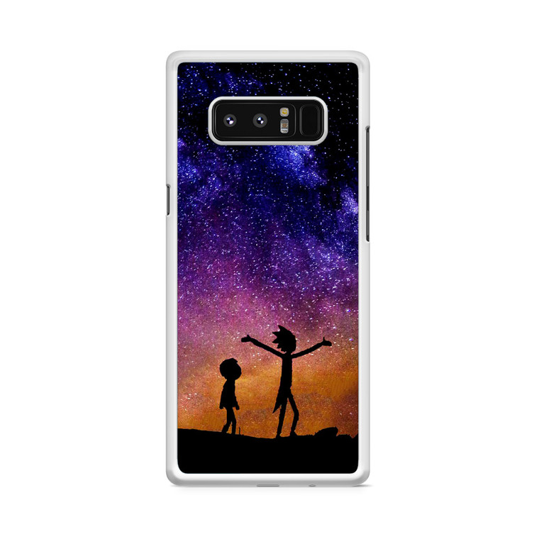 Rick and Morty Space Nebula Samsung Galaxy Note 8 Case