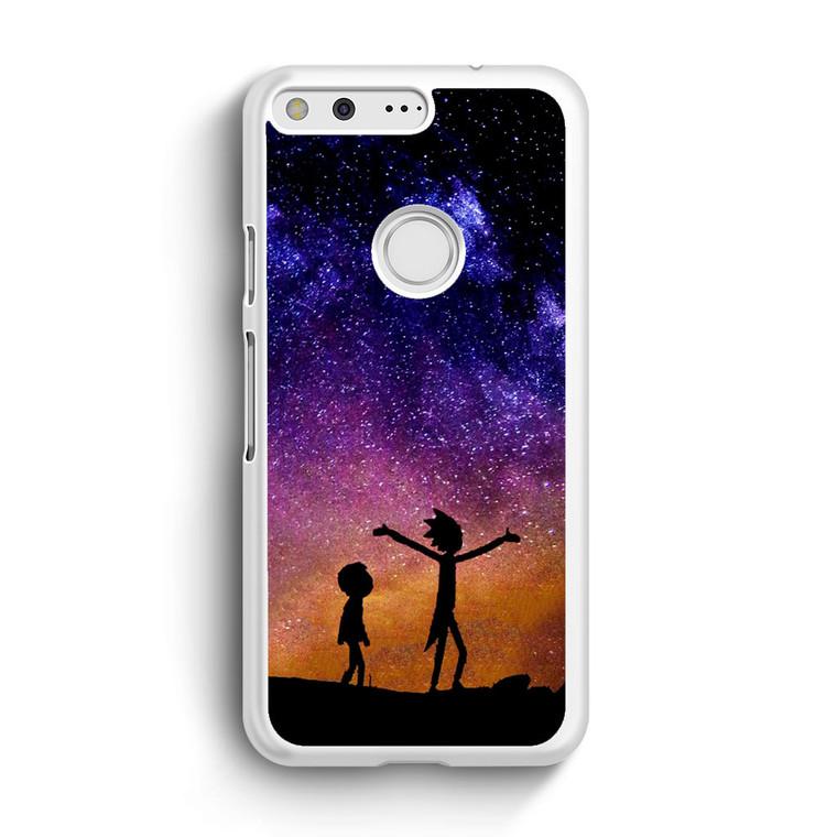 Rick and Morty Space Nebula Google Pixel Case