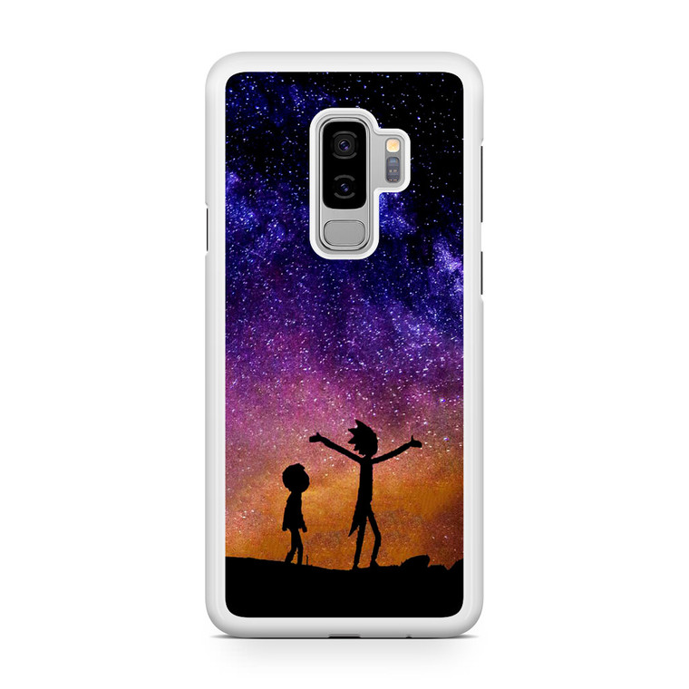 Rick and Morty Space Nebula Samsung Galaxy S9 Plus Case