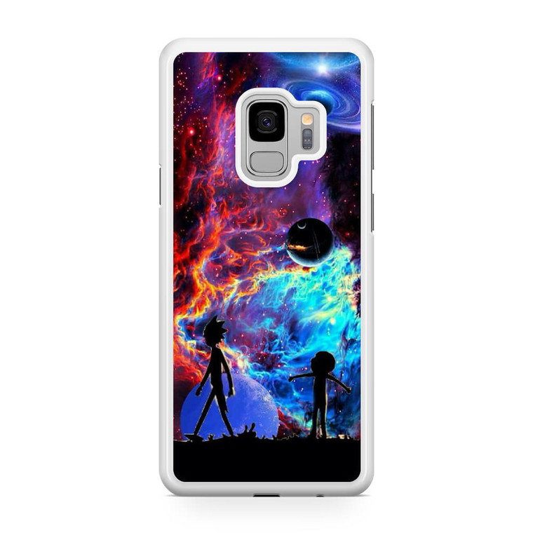 Rick and Morty Flat Galaxy Samsung Galaxy S9 Case