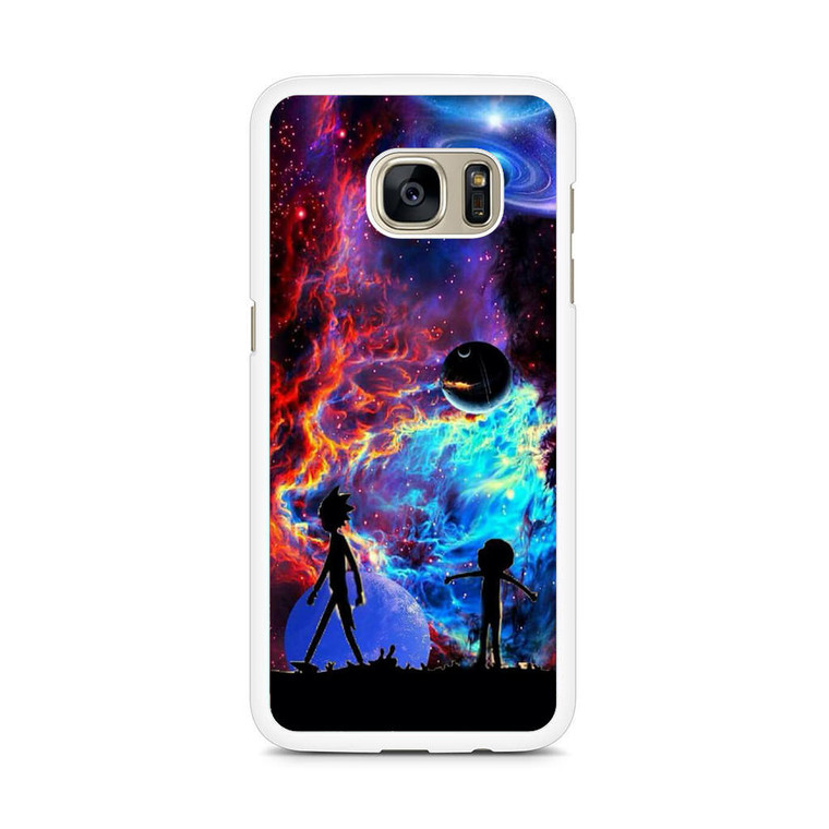 Rick and Morty Flat Galaxy Samsung Galaxy S7 Edge Case