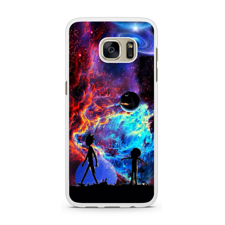 Rick and Morty Flat Galaxy Samsung Galaxy S7 Case