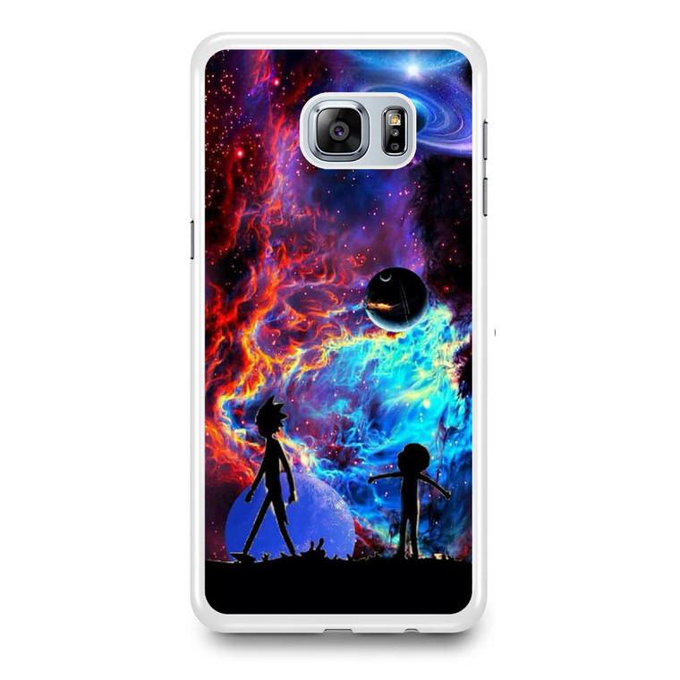 Rick and Morty Flat Galaxy Samsung Galaxy S6 Edge Plus Case