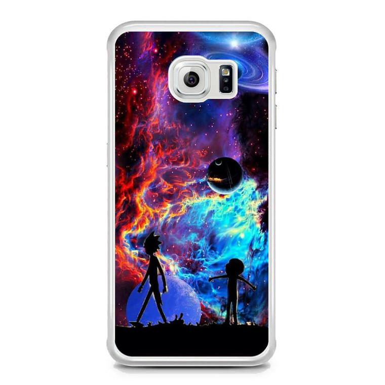Rick and Morty Flat Galaxy Samsung Galaxy S6 Edge Case