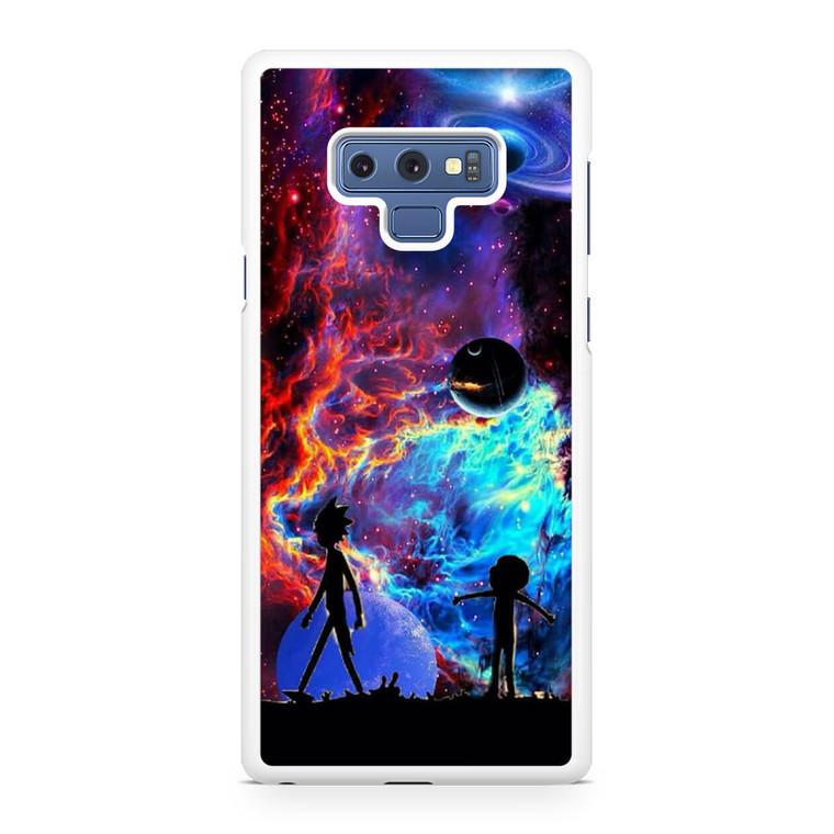 Rick and Morty Flat Galaxy Samsung Galaxy Note 9 Case