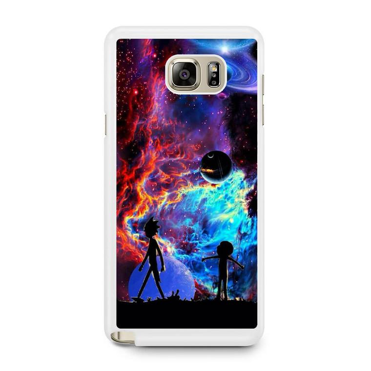 Rick and Morty Flat Galaxy Samsung Galaxy Note 5 Case