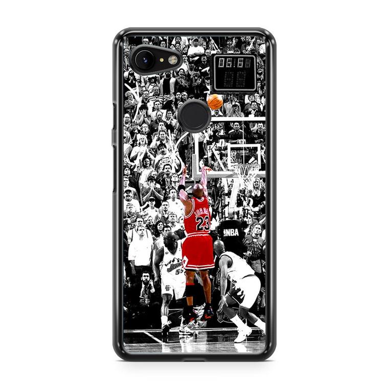 Michael Jordan Shoot in NBA Google Pixel 3 Case