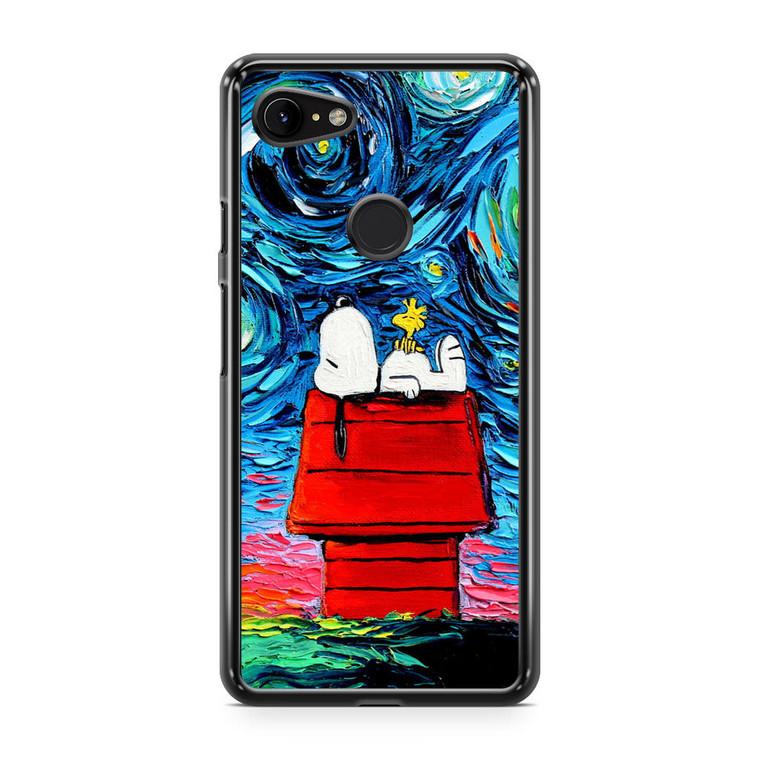 Snoopy Starry Night Van Gogh Google Pixel 3a XL Case