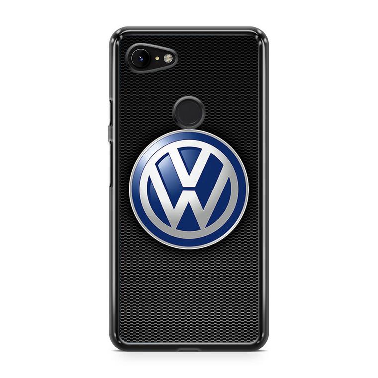 VW Logo Black Carbon Google Pixel 3a XL Case