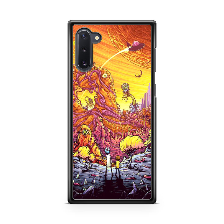 Rick and Morty Alien Planet Samsung Galaxy Note 10 Case